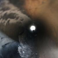 View through a pipe