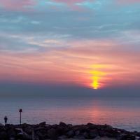 Sunset over Hurst Spit